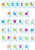 Puzzles alphabet Stock Photo