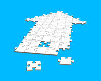 Puzzles in arrow shape Royalty Free Stock Photo