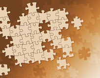 Puzzles background. In sepia color Stock Image