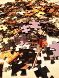 Puzzles. Board game puzzles. a great start with a small Stock Photos
