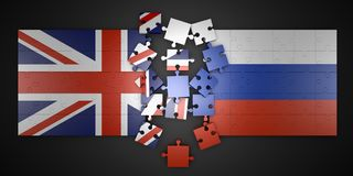 Free Puzzles Britain And Russia Stock Image - 112286871