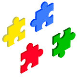 Puzzles. Puzzles, can be used for wall-papper, web-design Stock Photos