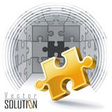 Puzzles,Challenges ,Solutions Stock Photo