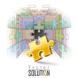Puzzles,Challenges ,Solutions vector illustration