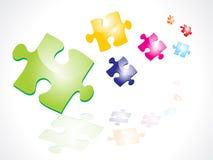 Puzzles colorés abstraits Image libre de droits