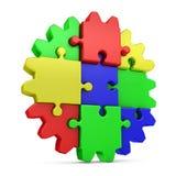 Puzzles colorés par destiner Images libres de droits