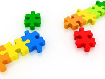 Puzzles connect Stock Photo
