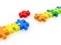 Puzzles connect Royalty Free Stock Images