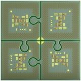 Puzzles CPU Stock Image