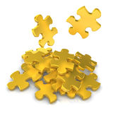 Puzzles d'or Photo libre de droits