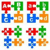 Puzzles d'alphabet Images libres de droits