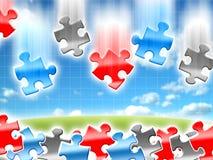 Puzzles de concepts d'idées Photo stock