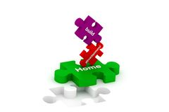 Puzzles de construction Image libre de droits