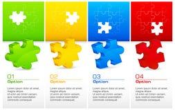 Puzzles de couleur Images libres de droits