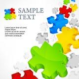 Puzzles de couleur Photo stock