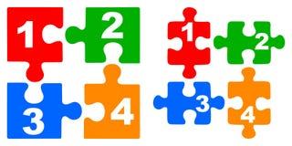 Puzzles de nombre Images libres de droits