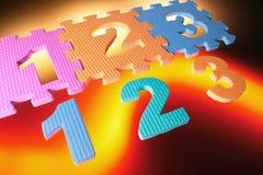 Puzzles de numéro Images libres de droits