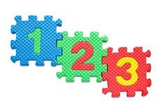 Puzzles de numéro d'isolement Photographie stock libre de droits
