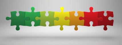 Puzzles denteux Images libres de droits