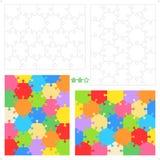 Puzzles denteux hexagonaux Image libre de droits