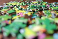 Puzzles dispersés de gamme étroite Images libres de droits