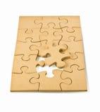 Puzzles en bois Photographie stock libre de droits