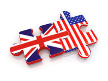 Puzzles with flags royalty free illustration