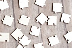 Puzzles on floor Royalty Free Stock Image