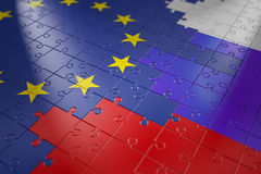 Puzzles in the form of flags Stock Image