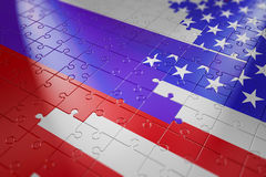 Puzzles in the form of flags Stock Photo