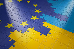 Puzzles in the form of flags Stock Photos