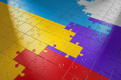 Puzzles in the form of flags Royalty Free Stock Image