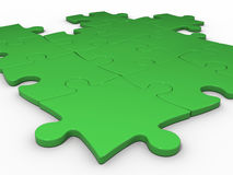 Puzzles green Royalty Free Stock Photo