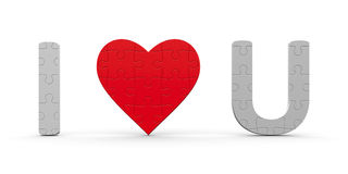 Puzzles I Love You Royalty Free Stock Photo