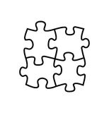 Puzzles icon Royalty Free Stock Photo
