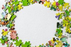 puzzles Jeu éducatif pour des enfants et des adultes Il y a une place pour votre texte photographie stock libre de droits