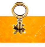 Puzzles and keys Stock Photography