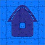 Puzzles - la maison illustration libre de droits