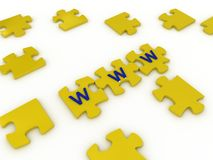 Puzzles with letters Royalty Free Stock Images