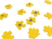 Puzzles with letters Stock Photography