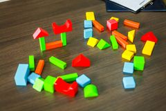 Puzzles using brain development for children who want to learn. stock photography