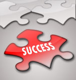 Puzzles with motivation. Success in business royalty free stock photos