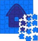 Puzzles non rassemblés illustration stock