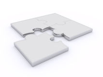 Free Puzzles On A White Background Royalty Free Stock Photography - 8255657