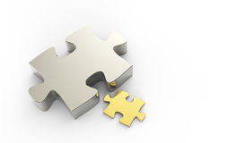 Puzzles partnership as concept Royalty Free Stock Images