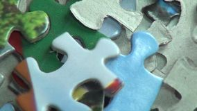 Puzzles, Puzzle Pieces, Children's Toys stock video