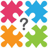 Puzzles with  question mark Stock Photos