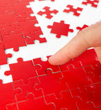 Puzzles rouges de coeur Photos libres de droits