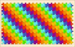 PUZZLES. Sample multicolor polyforme background image Royalty Free Stock Images