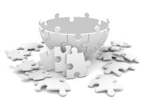 Puzzles se composants de sphère Photo libre de droits